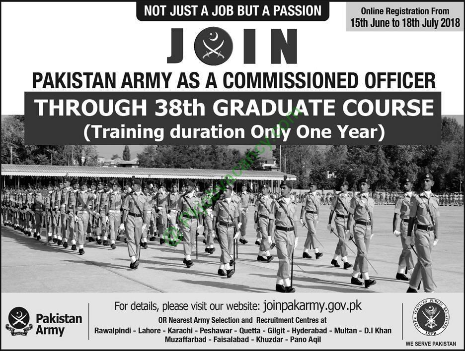 Join-Pakistan-Army-as-Commissioned-Officer-through-38th-Graduate-Course